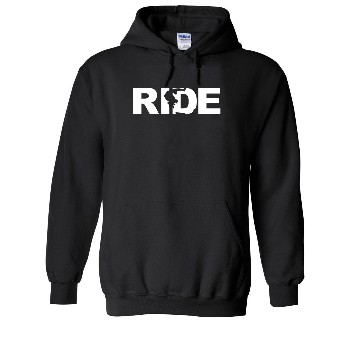 Ride Greece Classic Sweatshirt Black (White Logo)