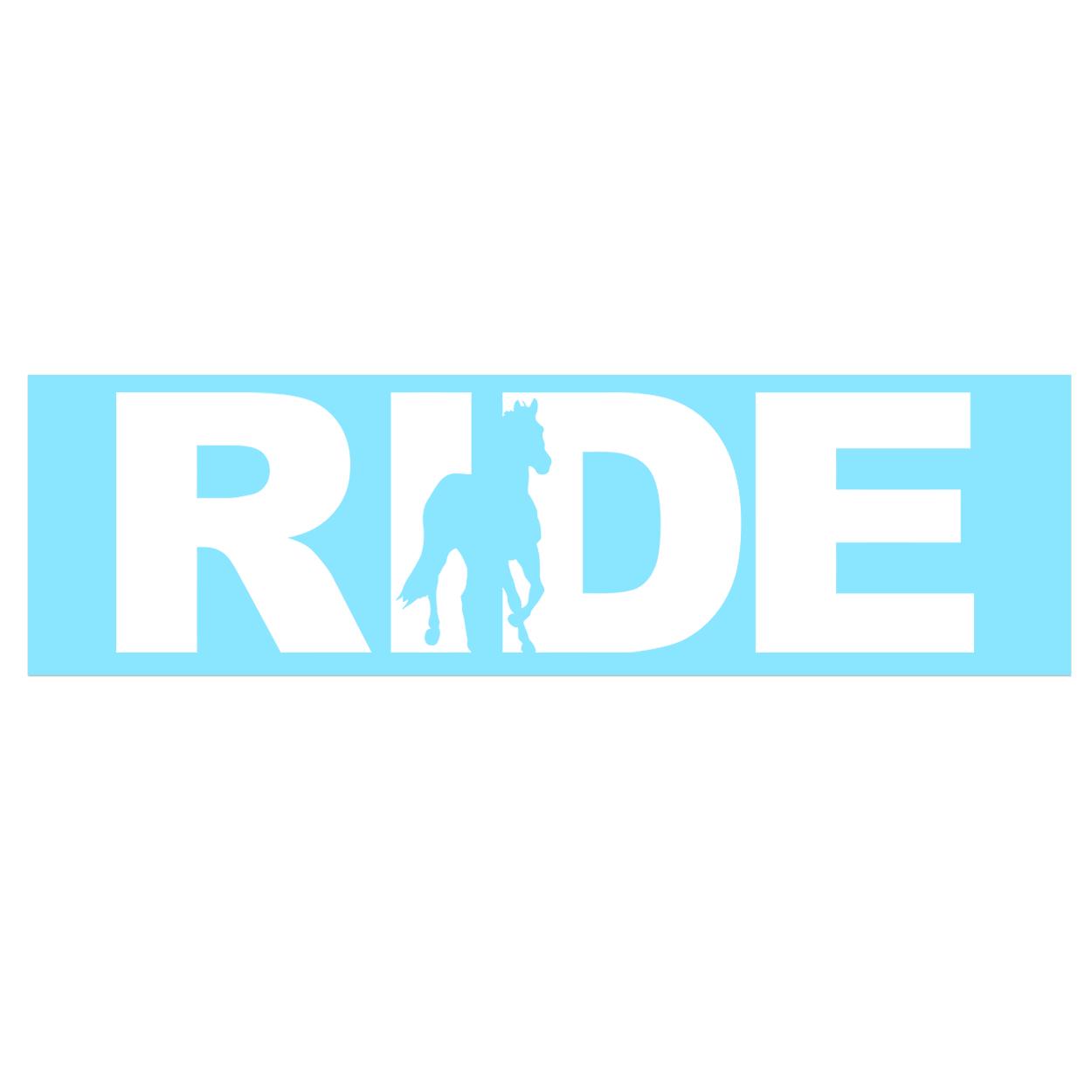Ride Horse Logo Classic Decal (White Logo)
