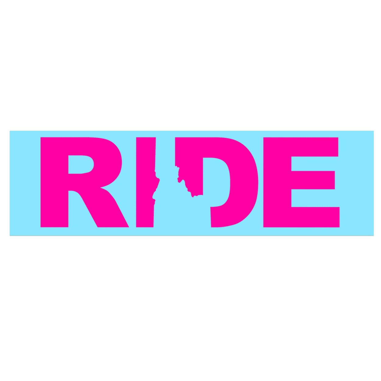 Ride Idaho Classic Decal (Pink Logo)