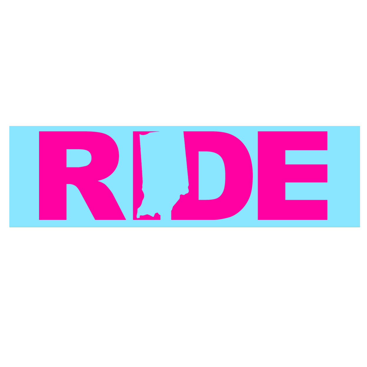 Ride Indiana Classic Decal (Pink Logo)