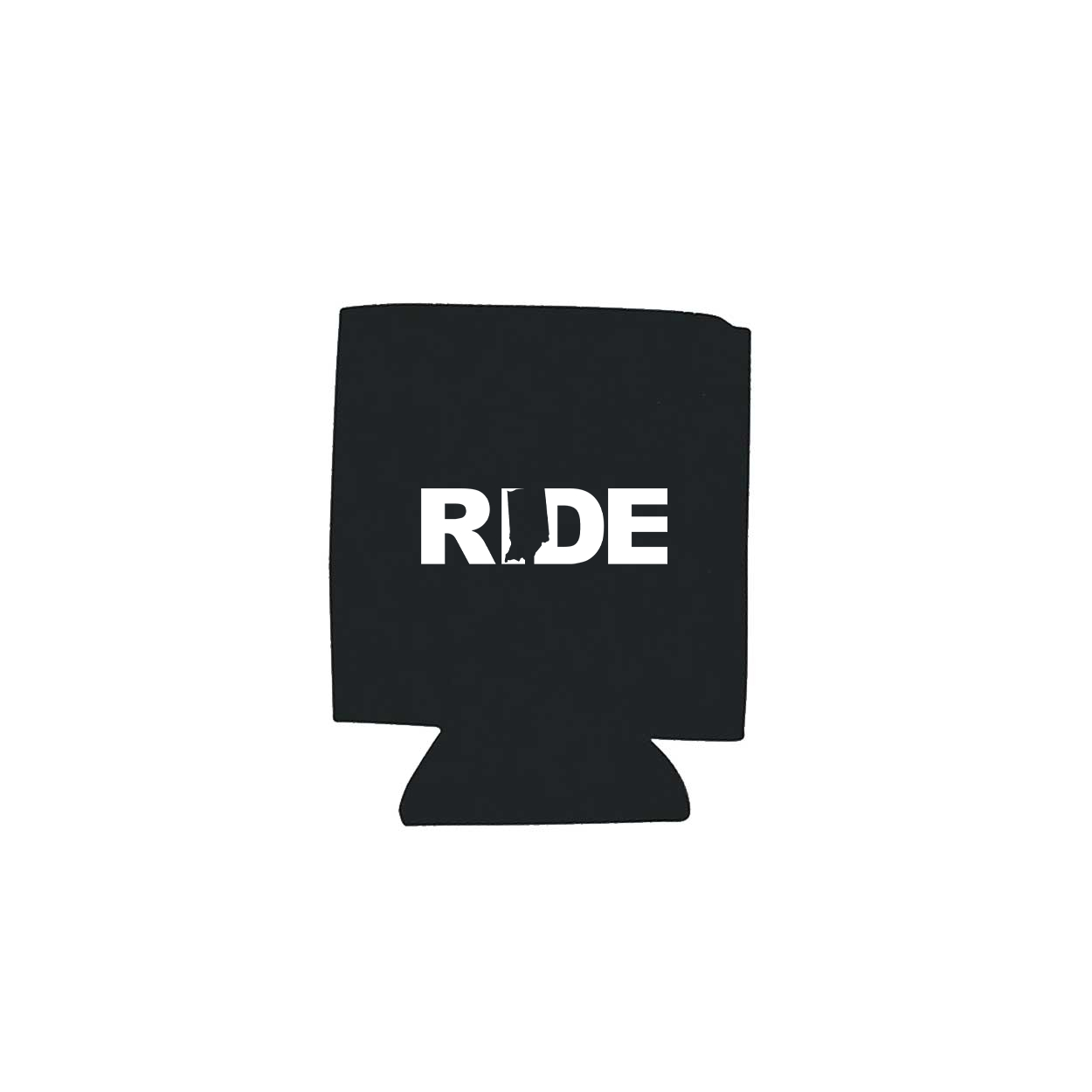 Ride Indiana Koozie Black (White Logo)