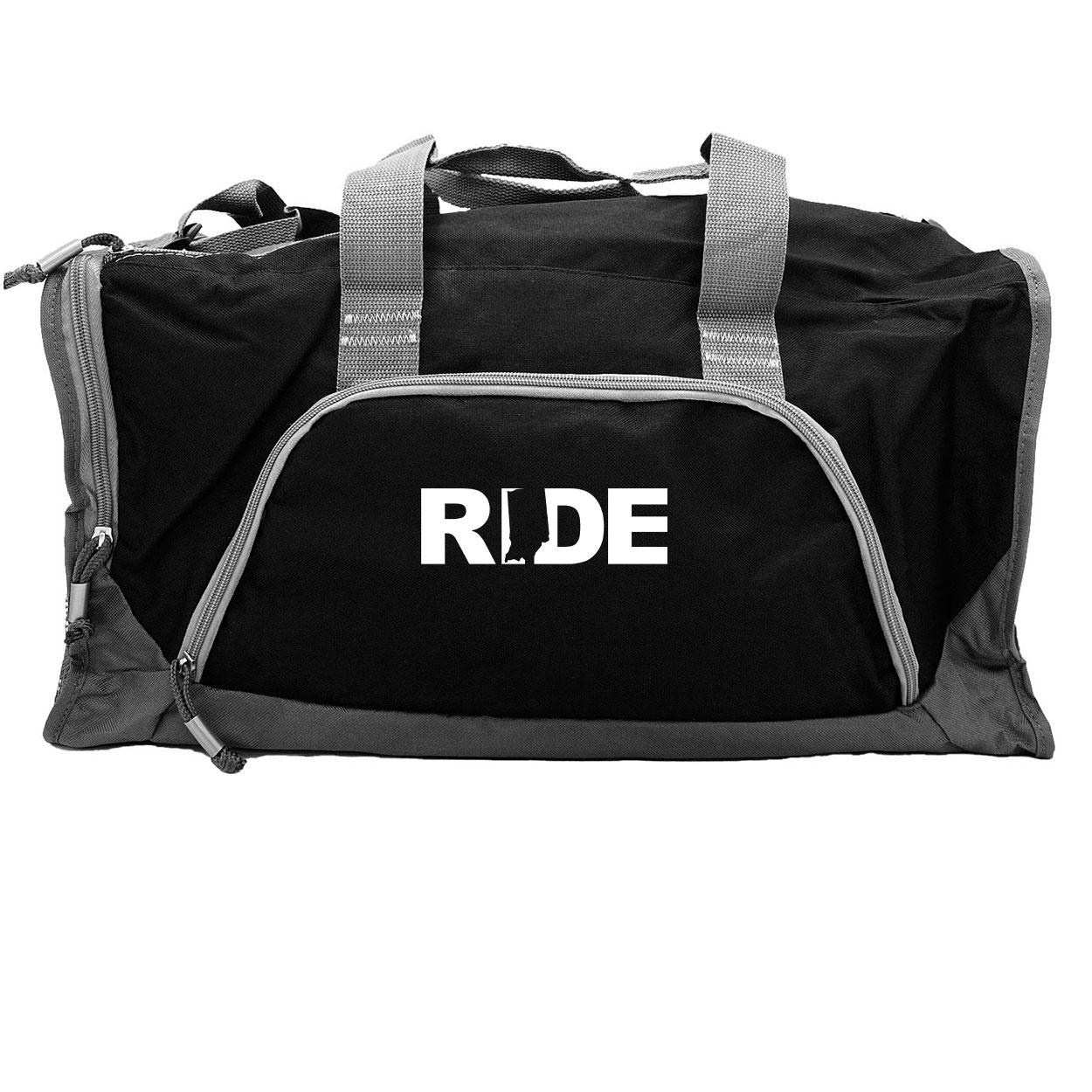 Ride Indiana Classic Rangeley Sport Duffel Bag Black (White Logo)