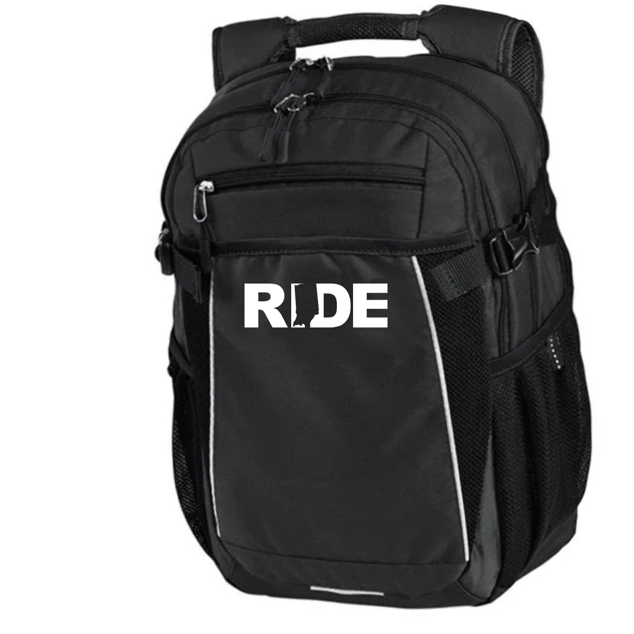 Ride Indiana Classic Pro Pioneer Backpack Black (White Logo)