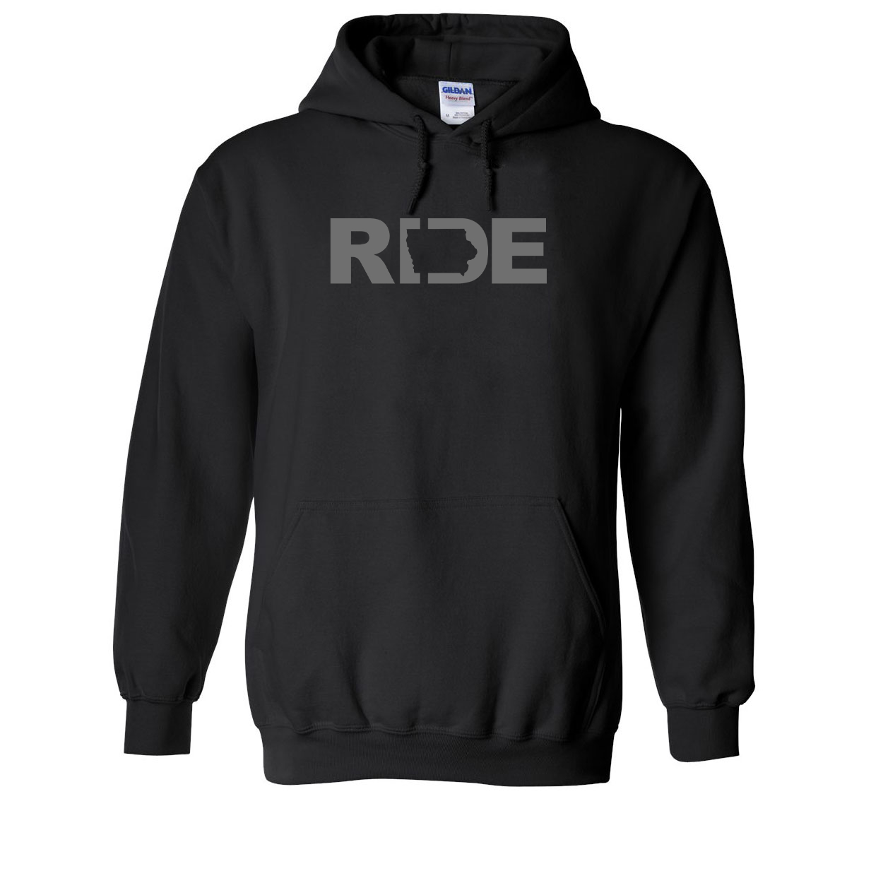 Ride Iowa Classic Sweatshirt Black (Gray Logo)