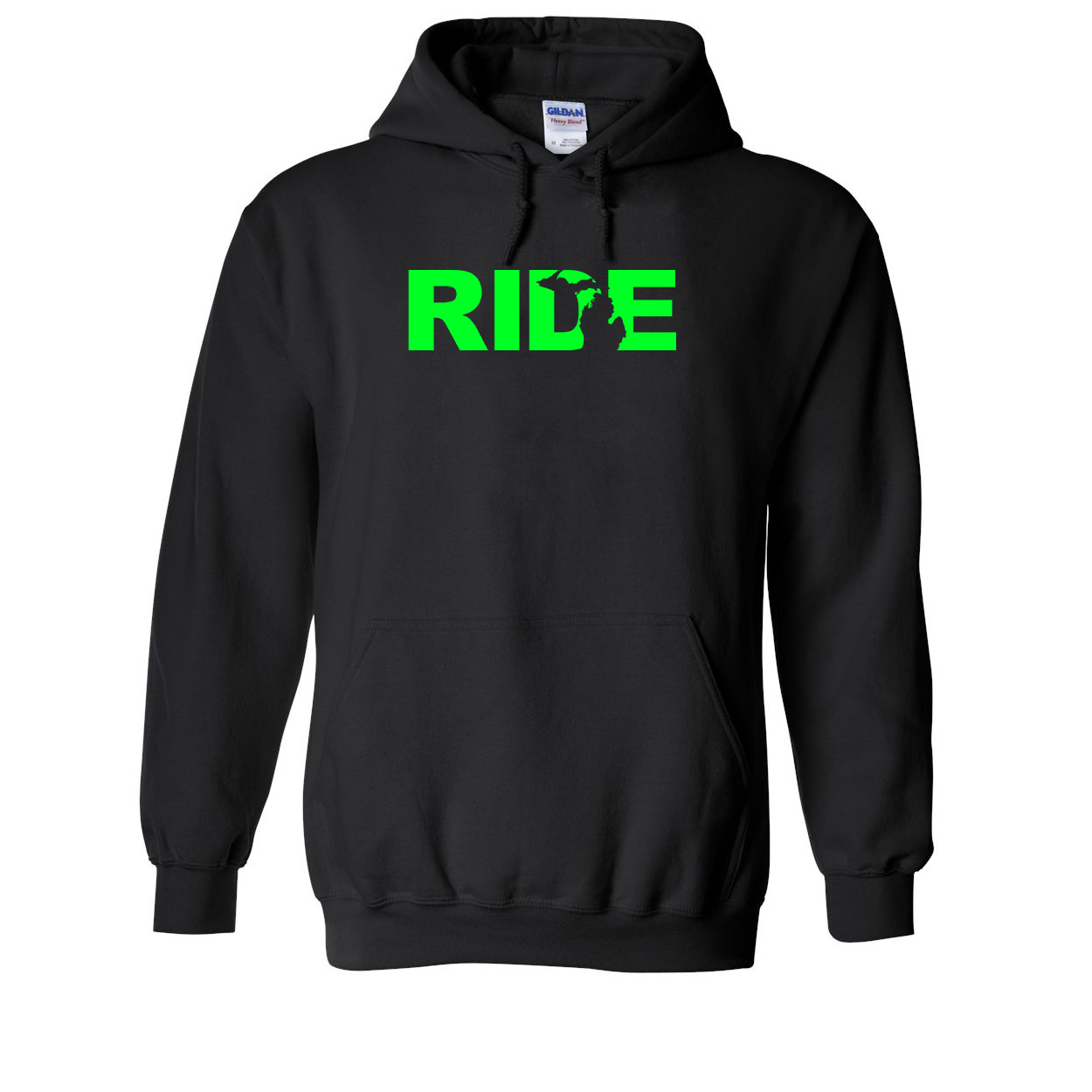 Ride Michigan Classic Sweatshirt Black (Green Logo)
