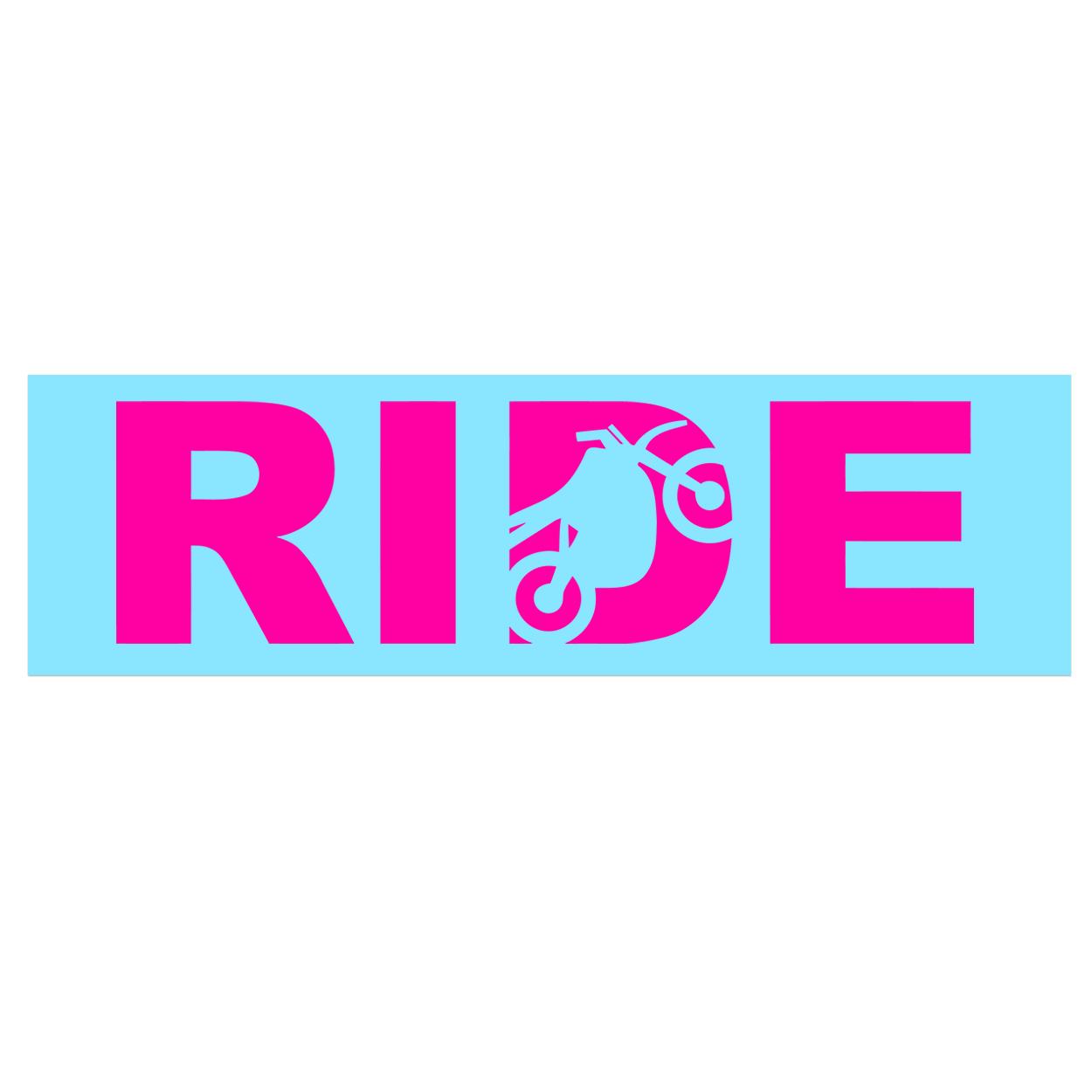 Ride Moto Logo Classic Decal (Pink Logo)