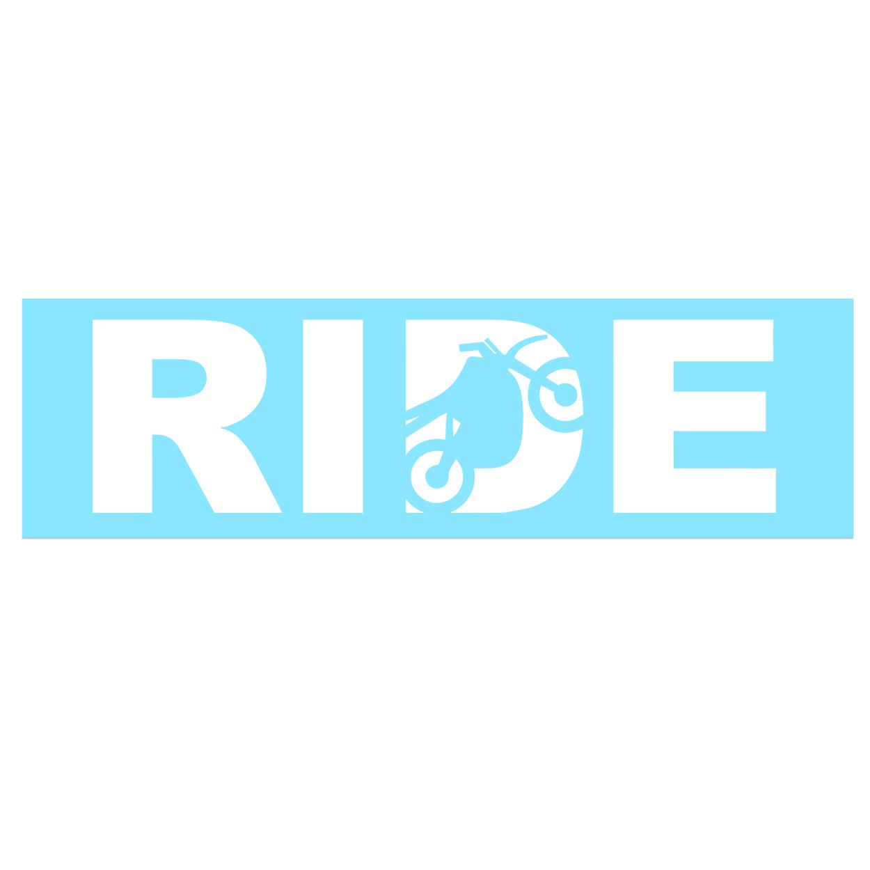 Ride Moto Logo Classic Decal (White Logo)