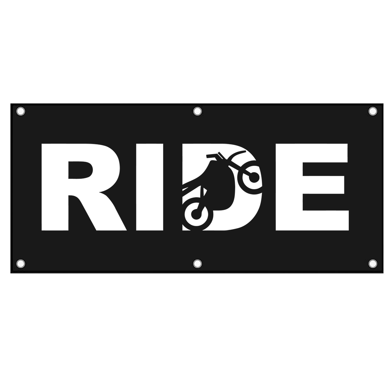 Ride Moto Logo Classic Banner (White Logo)