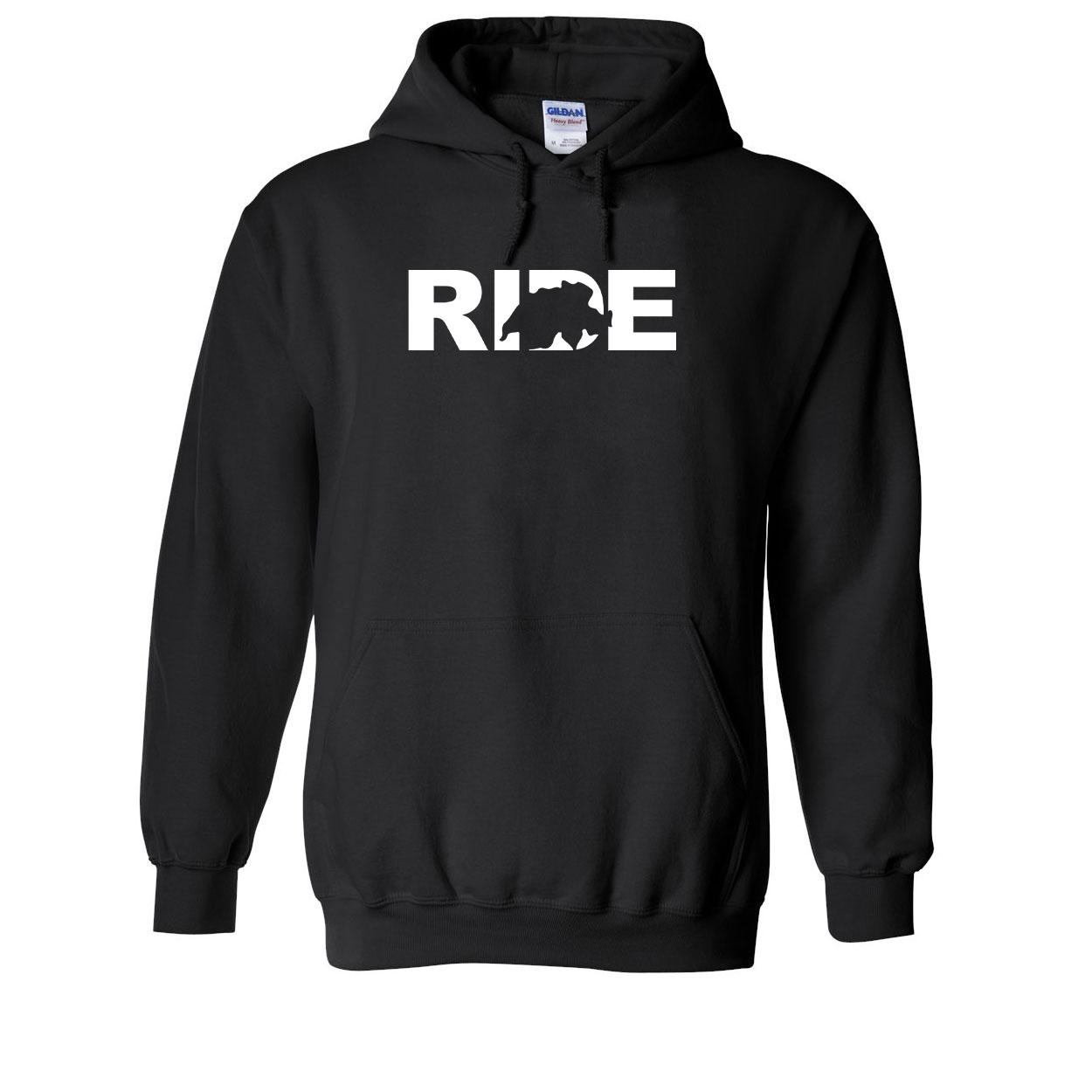 Ride Switzerland Classic Sweatshirt Black (White Logo)
