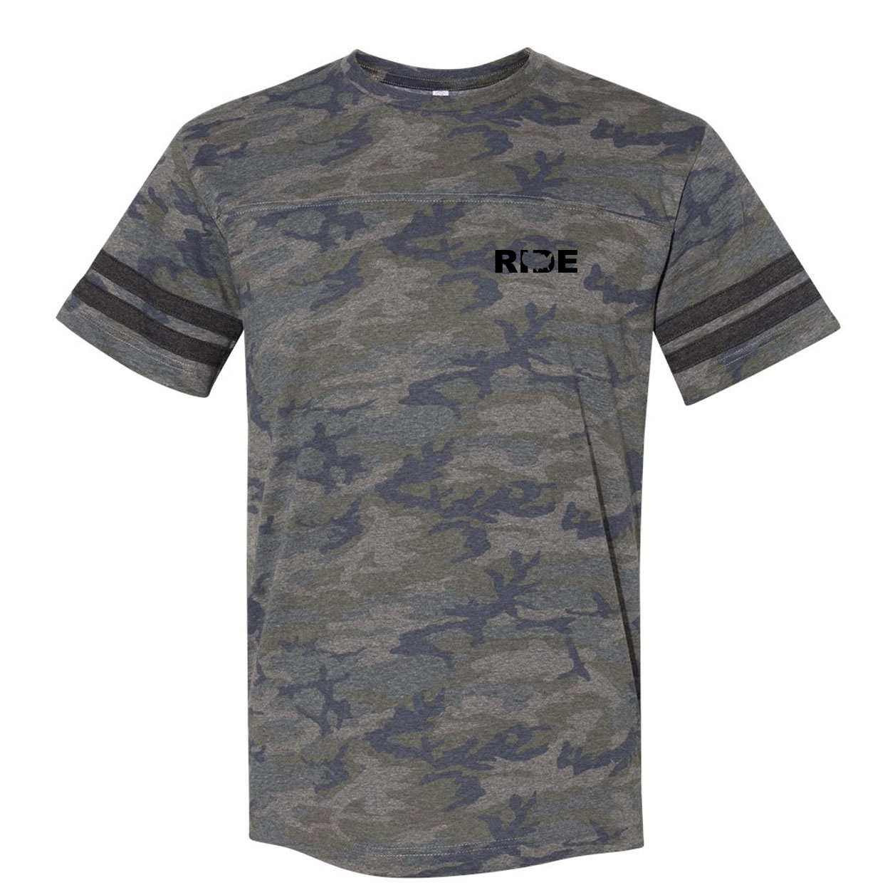 Ride United States Night Out Unisex Premium LAT Jersey T-Shirt Vintage Camo/Vintage Stripes (Black Logo)