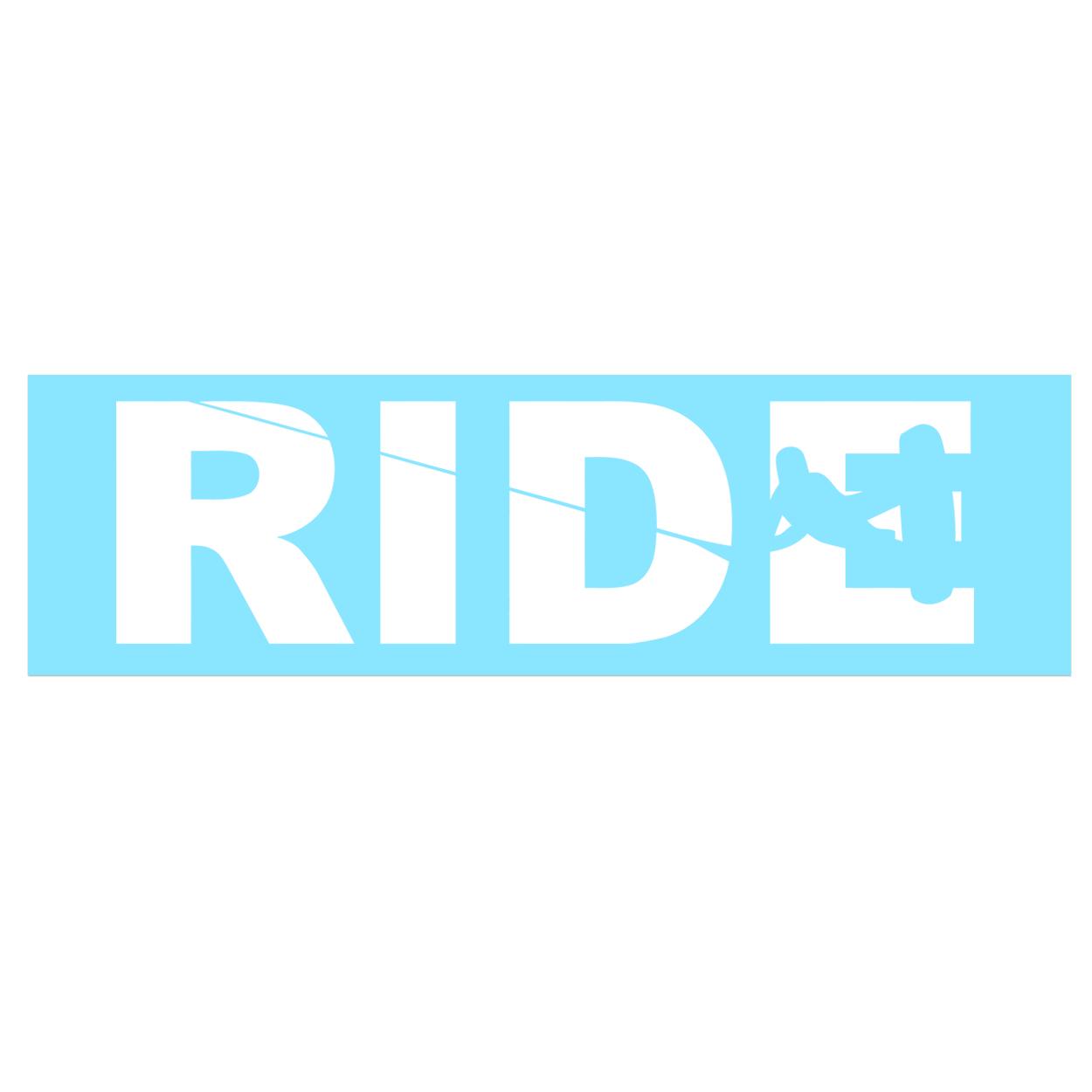 Ride Wakeboard Logo Classic Decal (White Logo)