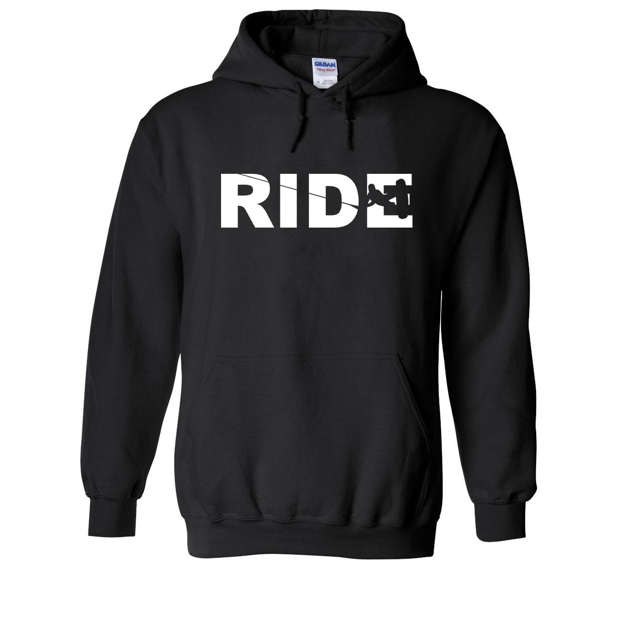 Ride Wakeboard Logo Classic Sweatshirt Black (White Logo)