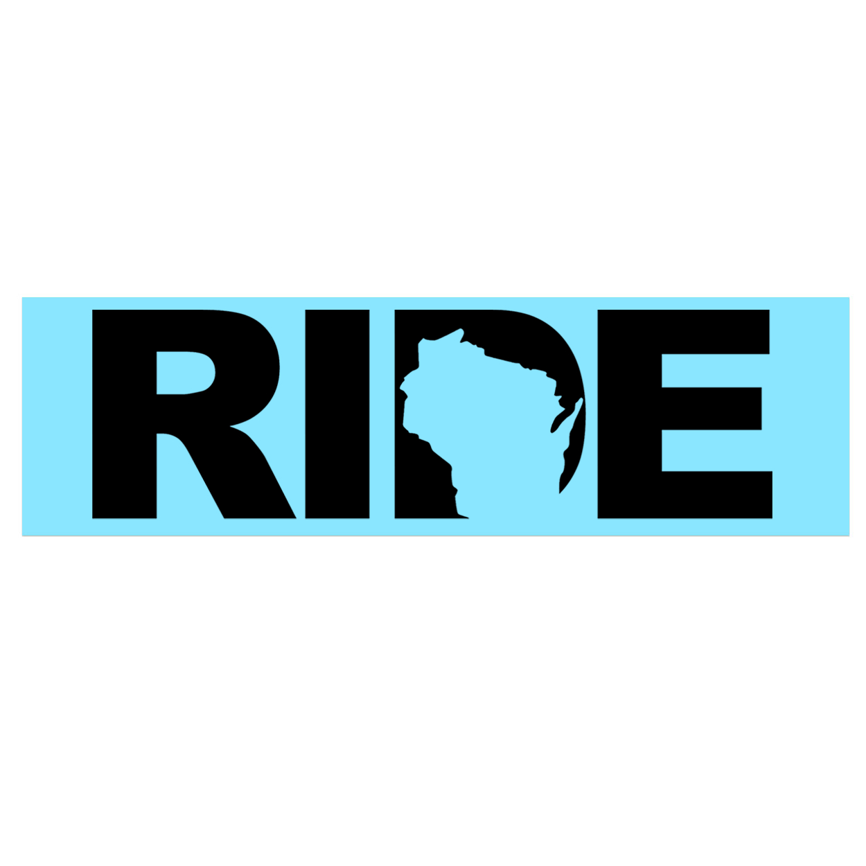 Ride Wisconsin Classic Decal (Black Logo)