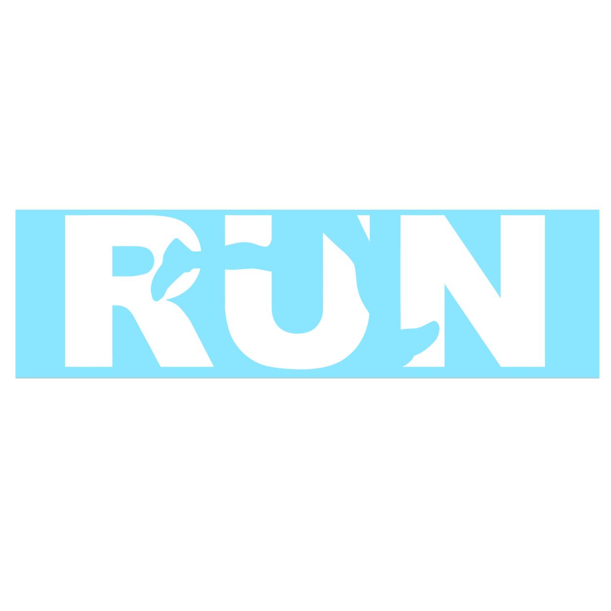 Run Jog Logo Classic Decal (White Logo)