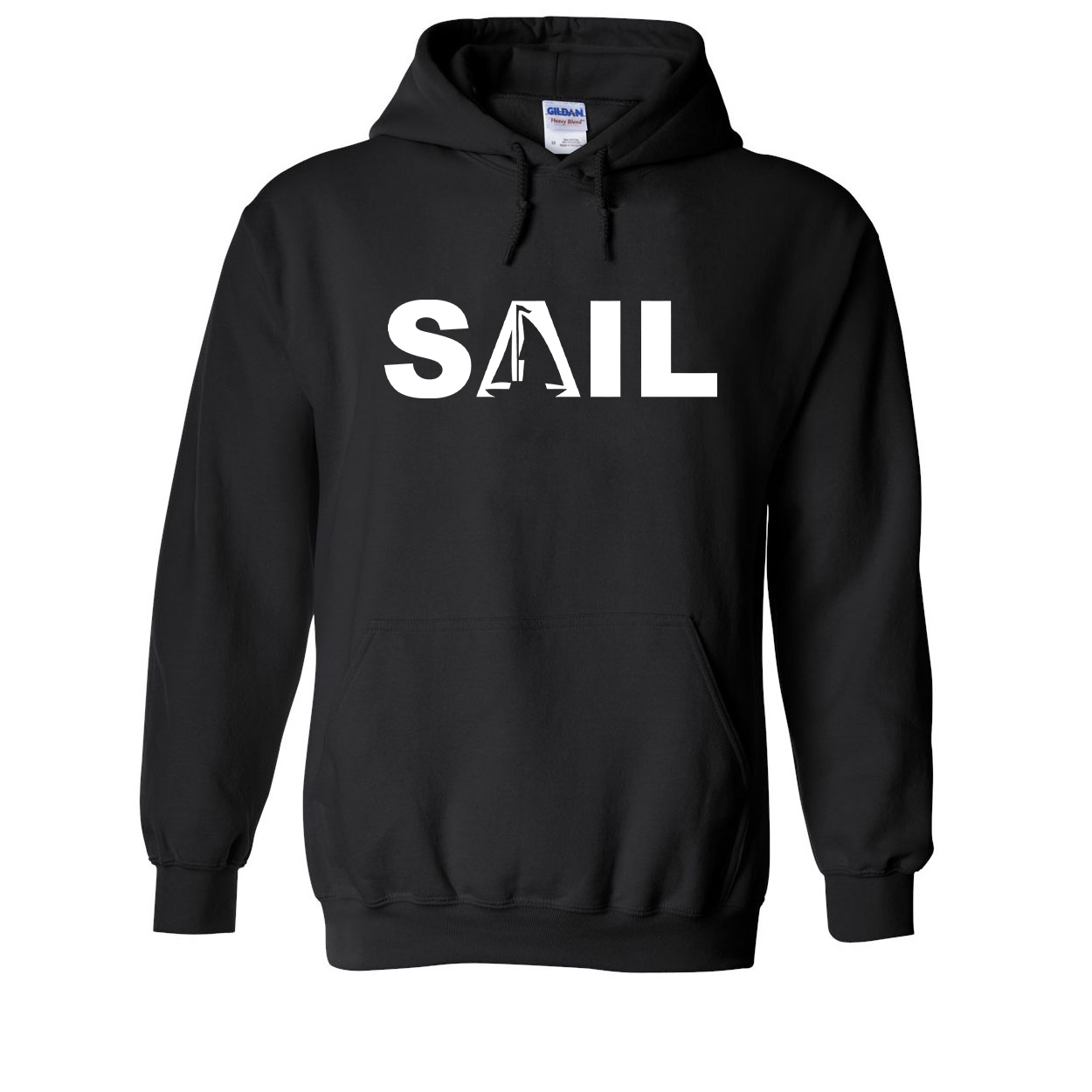 Sail Boat Logo Classic Sweatshirt Black (White Logo)