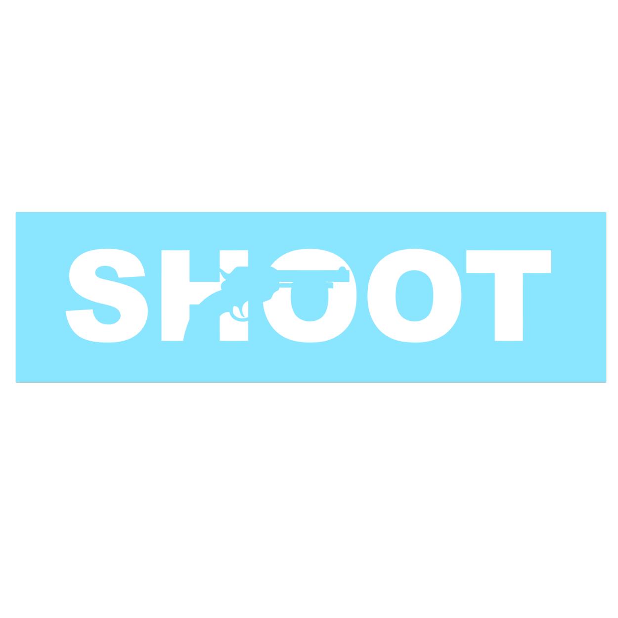 Shoot Gun Logo Classic Decal (White Logo)