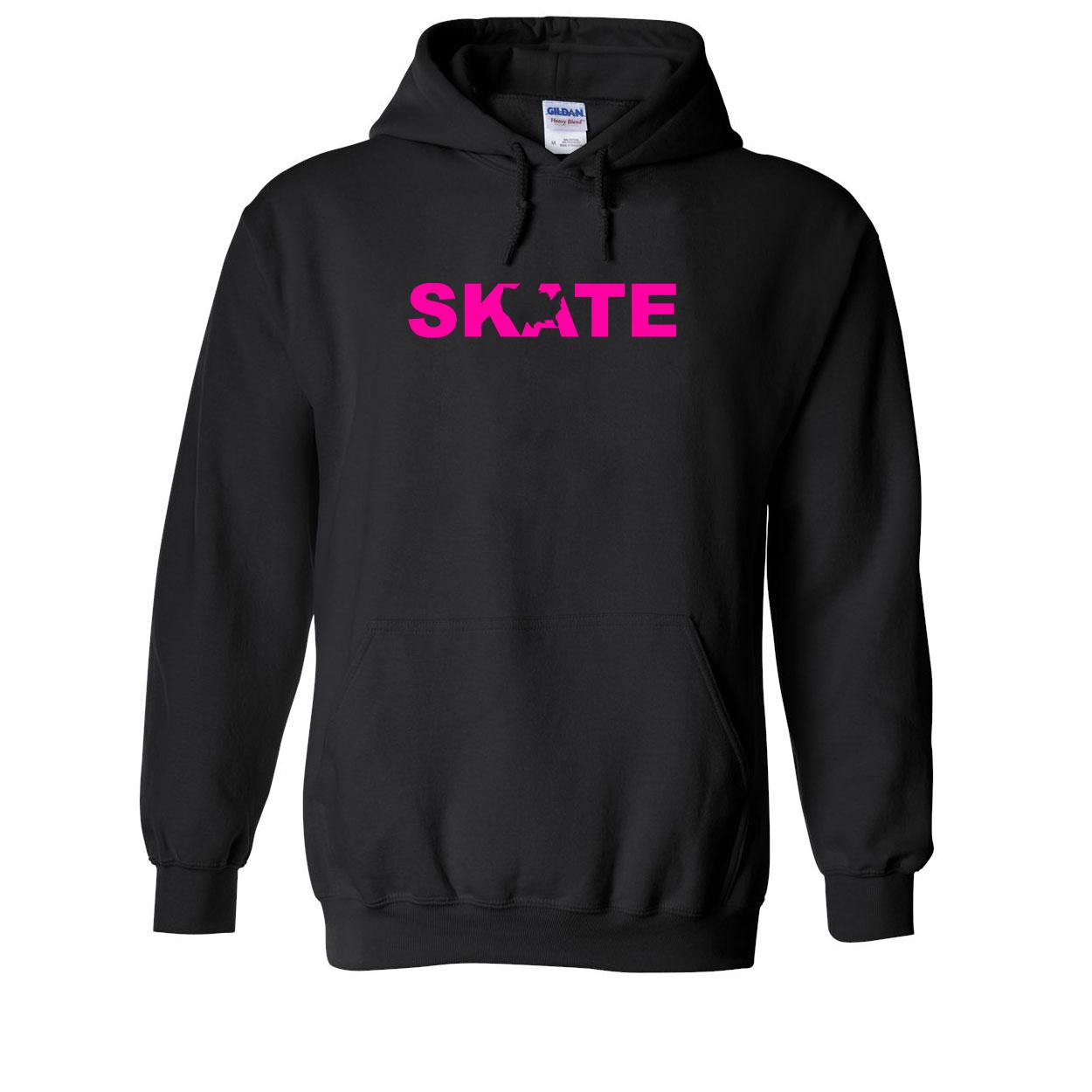 Skate United States Classic Sweatshirt Black (Pink Logo)