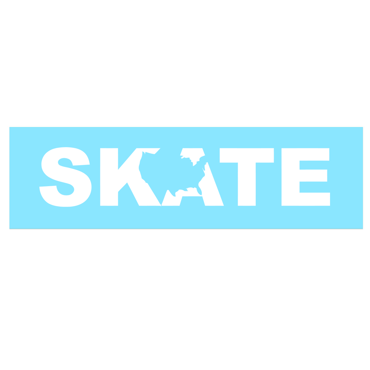 Skate United States Classic Decal (White Logo)