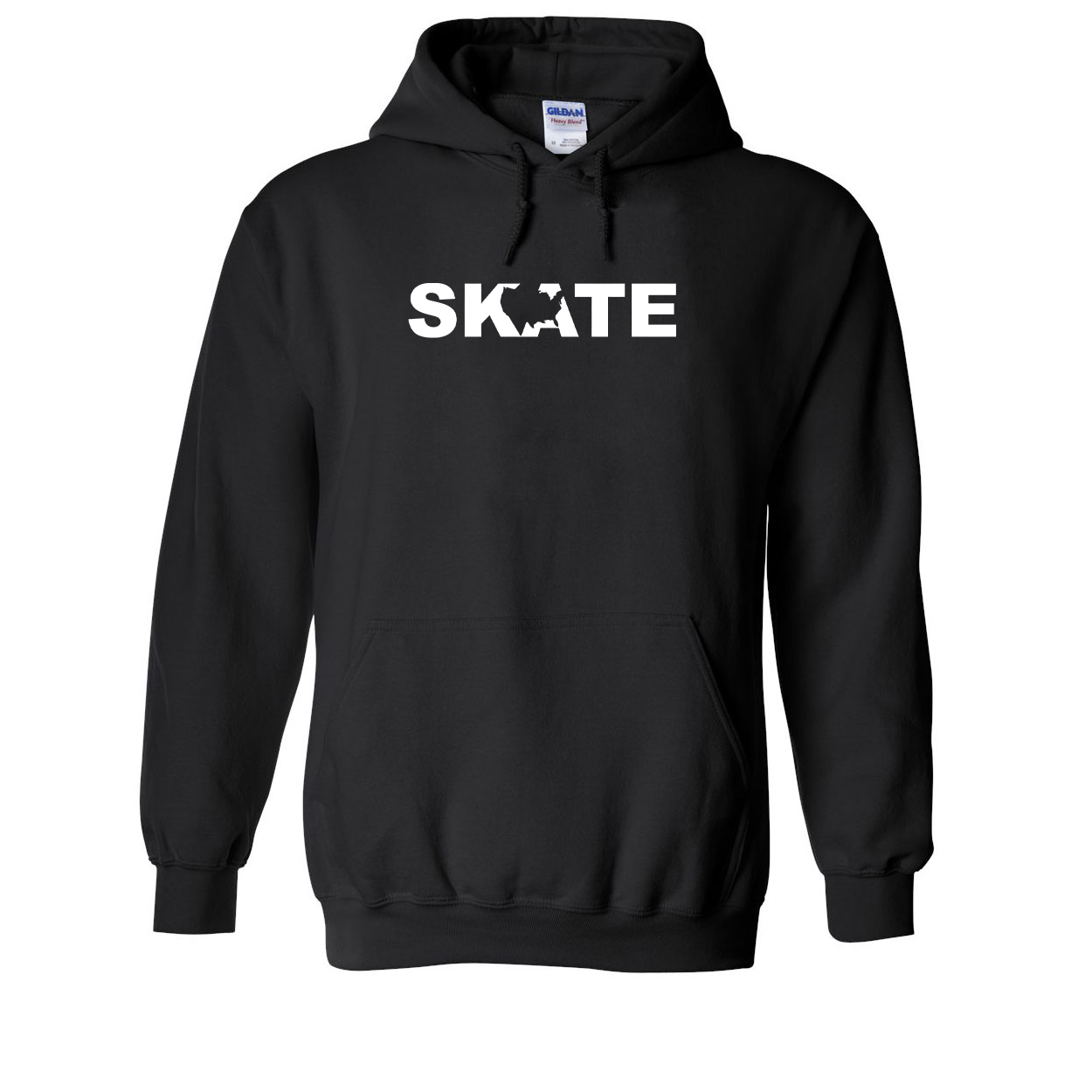 Skate United States Classic Sweatshirt Black (White Logo)