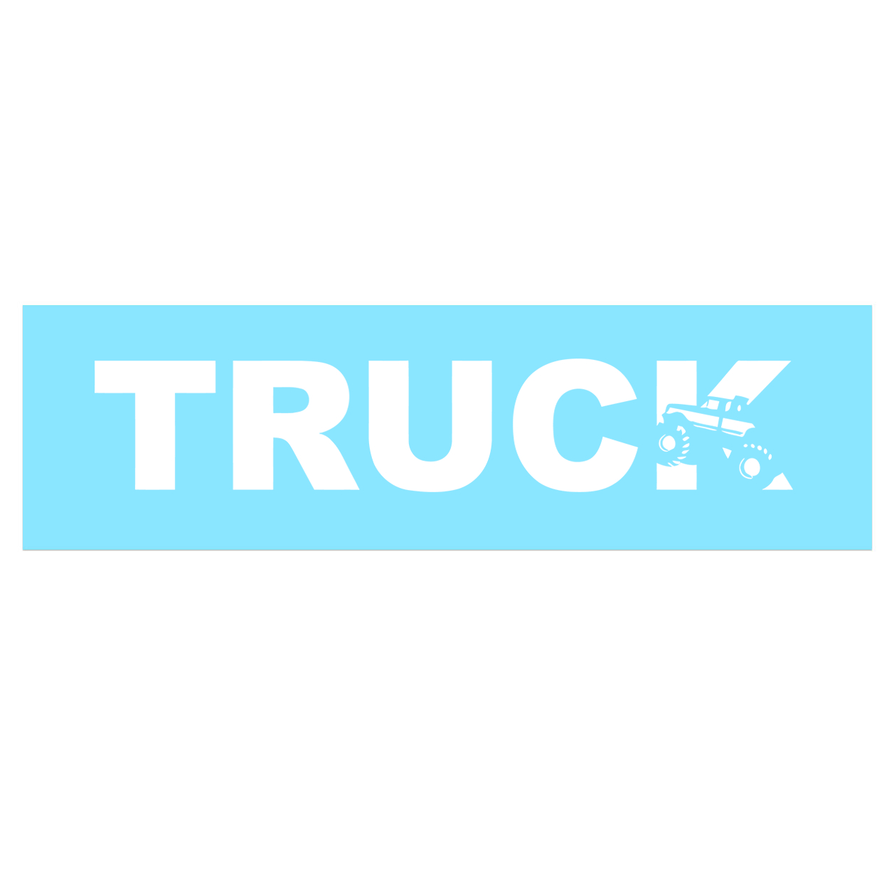 Truck 4x4 Logo Classic Decal (White Logo)
