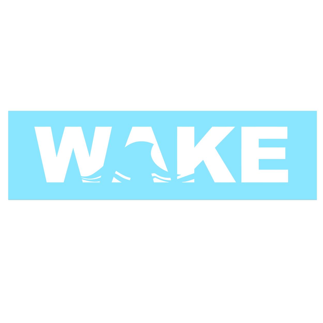 Wake Wave Logo Classic Decal (White Logo)