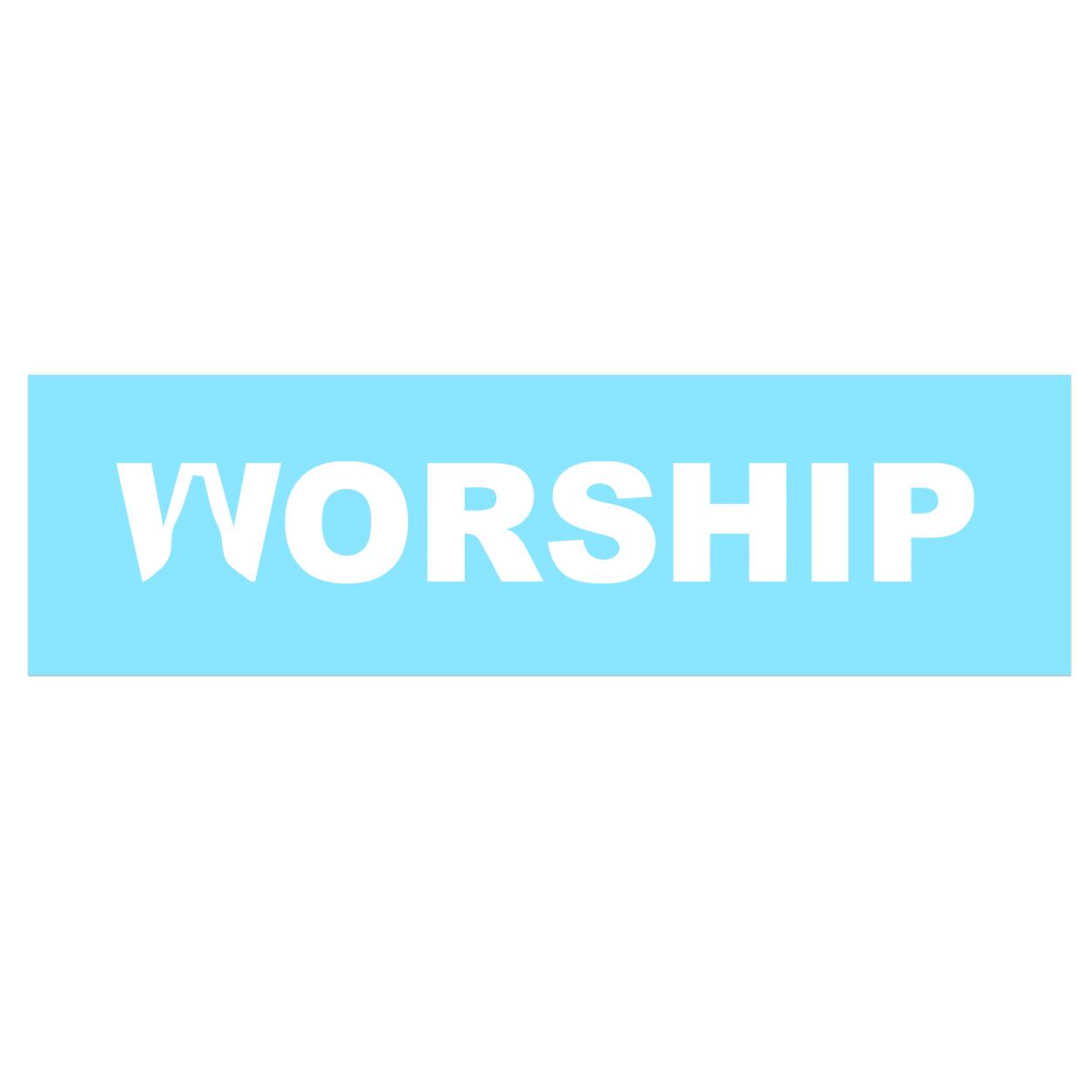 Worship Pray Logo Classic Decal (White Logo)