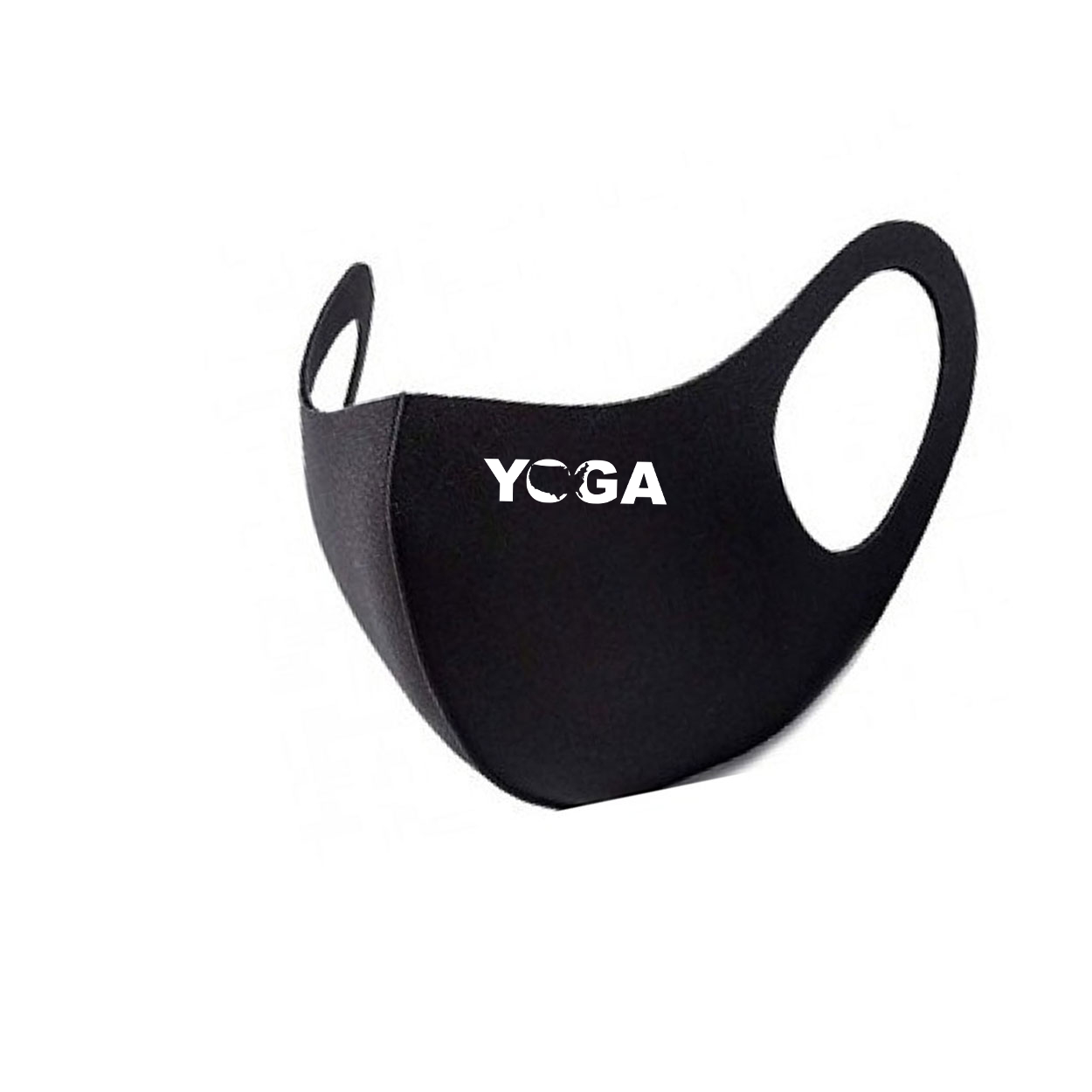 Yoga United States Night Out Fitted Washable Face Mask Black (White Logo)