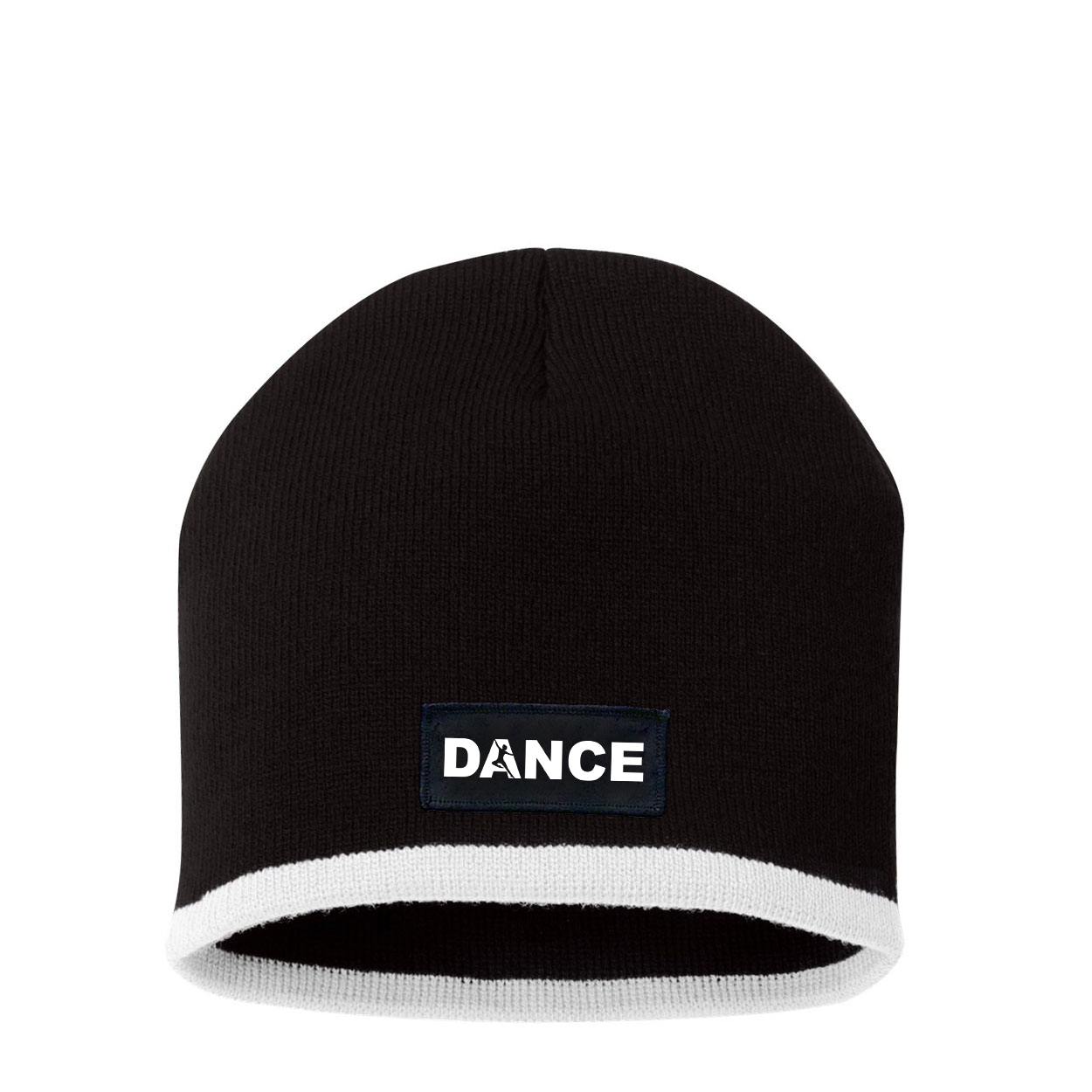 Dance Silhouette Logo Night Out Woven Patch Skully Beanie Black/White (White Logo)