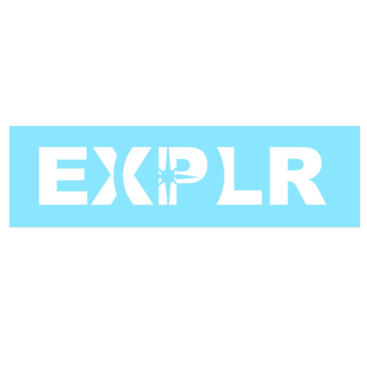 Explore Compass Logo Classic Decal (White Logo)