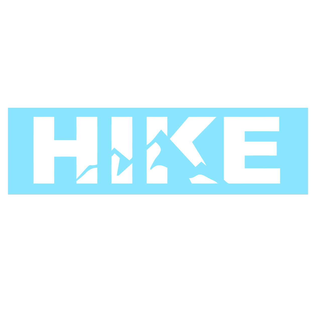 Hike Mountain Logo Classic Decal (White Logo)