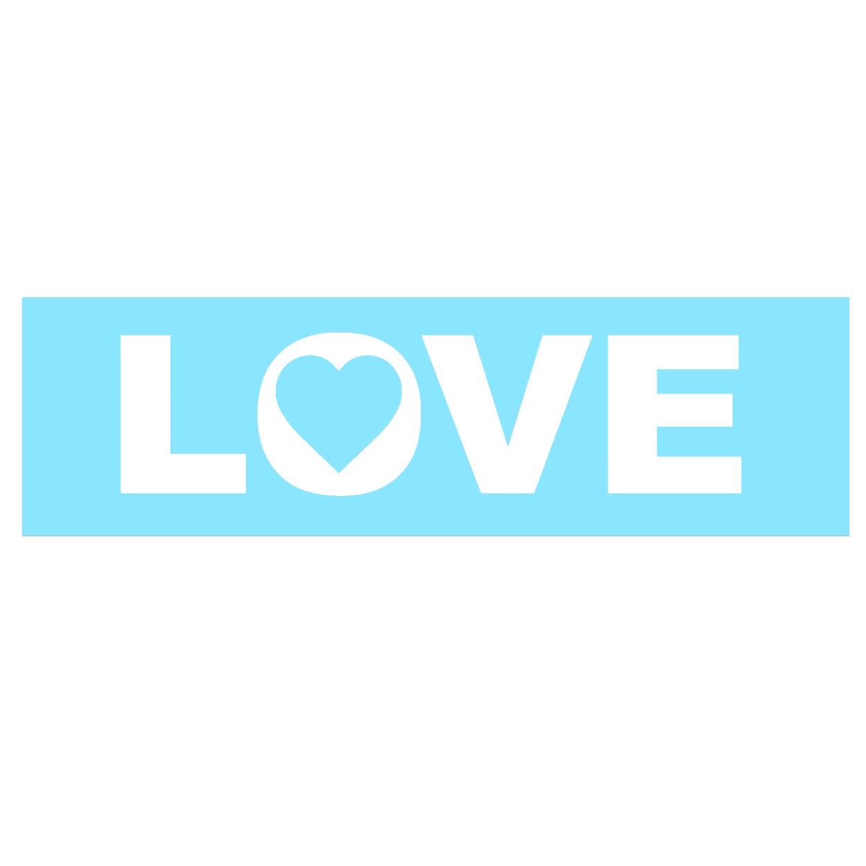 Love Heart Logo Classic Decal (White Logo)
