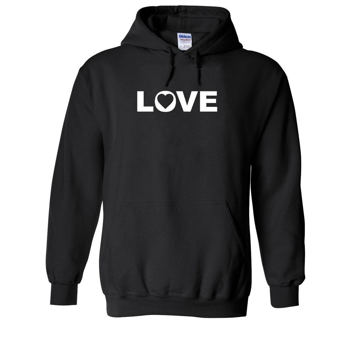 Love Heart Logo Classic Sweatshirt Black (White Logo)