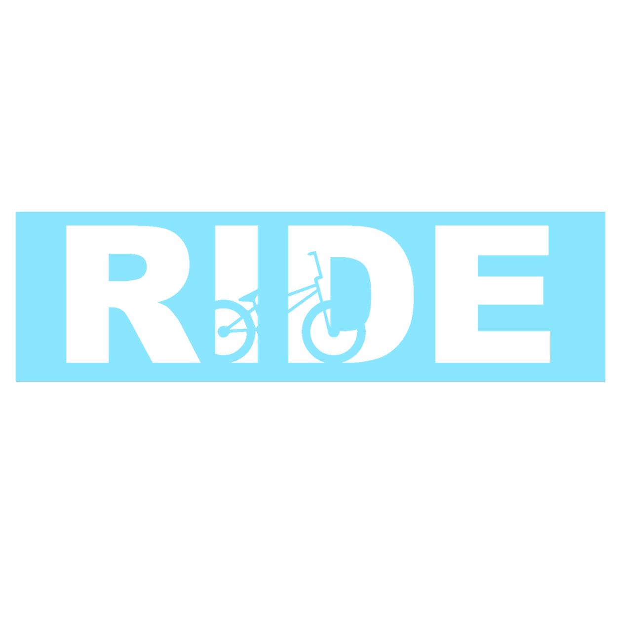 Ride BMX Logo Classic Decal (White Logo)