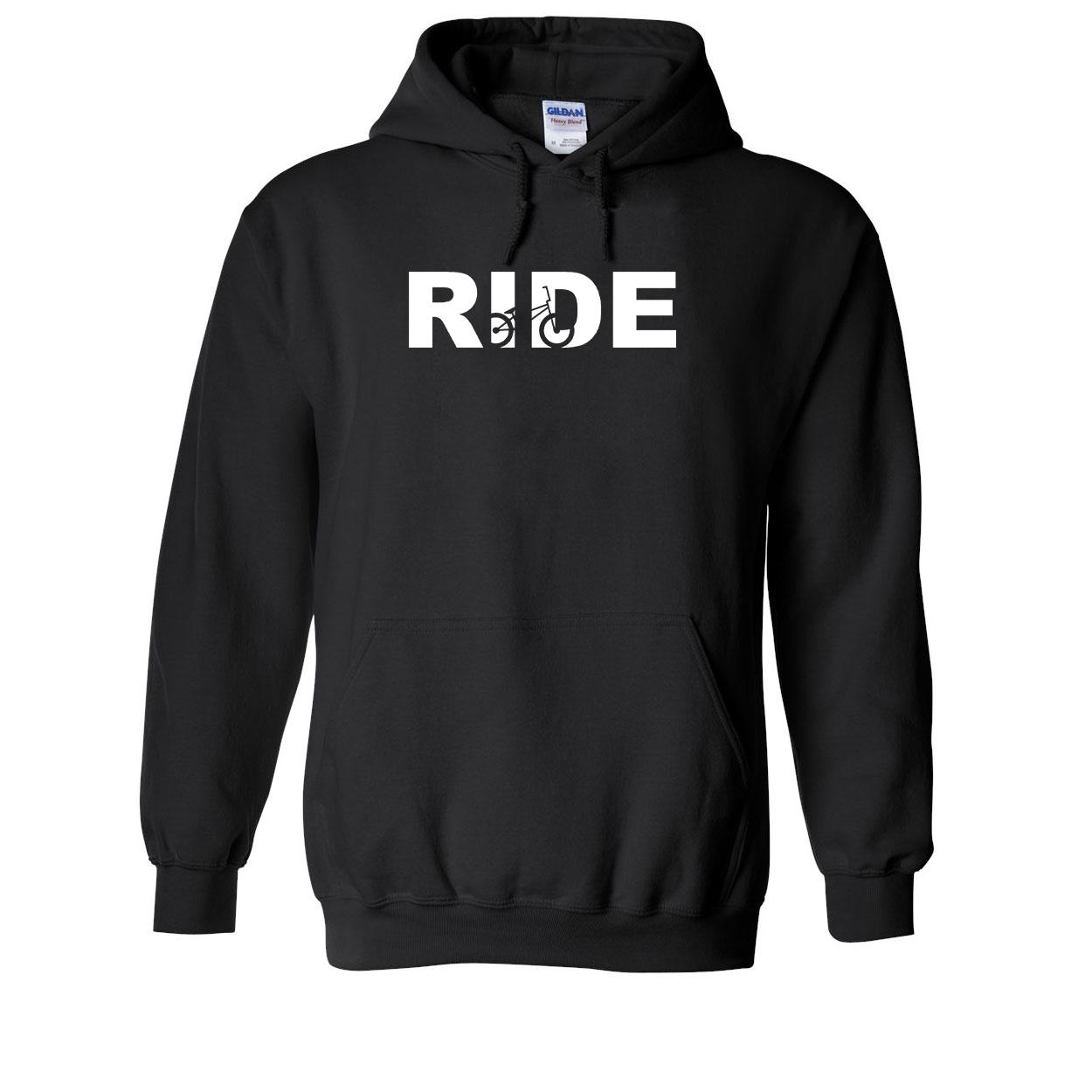 Ride BMX Logo Classic Sweatshirt Black (White Logo)