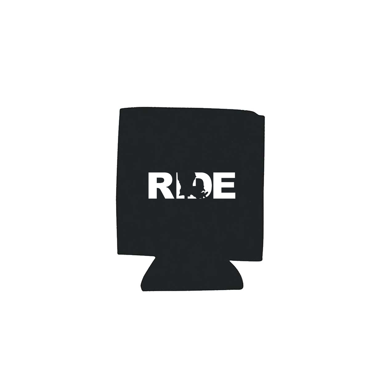 Ride Louisiana Koozie Black (White Logo)
