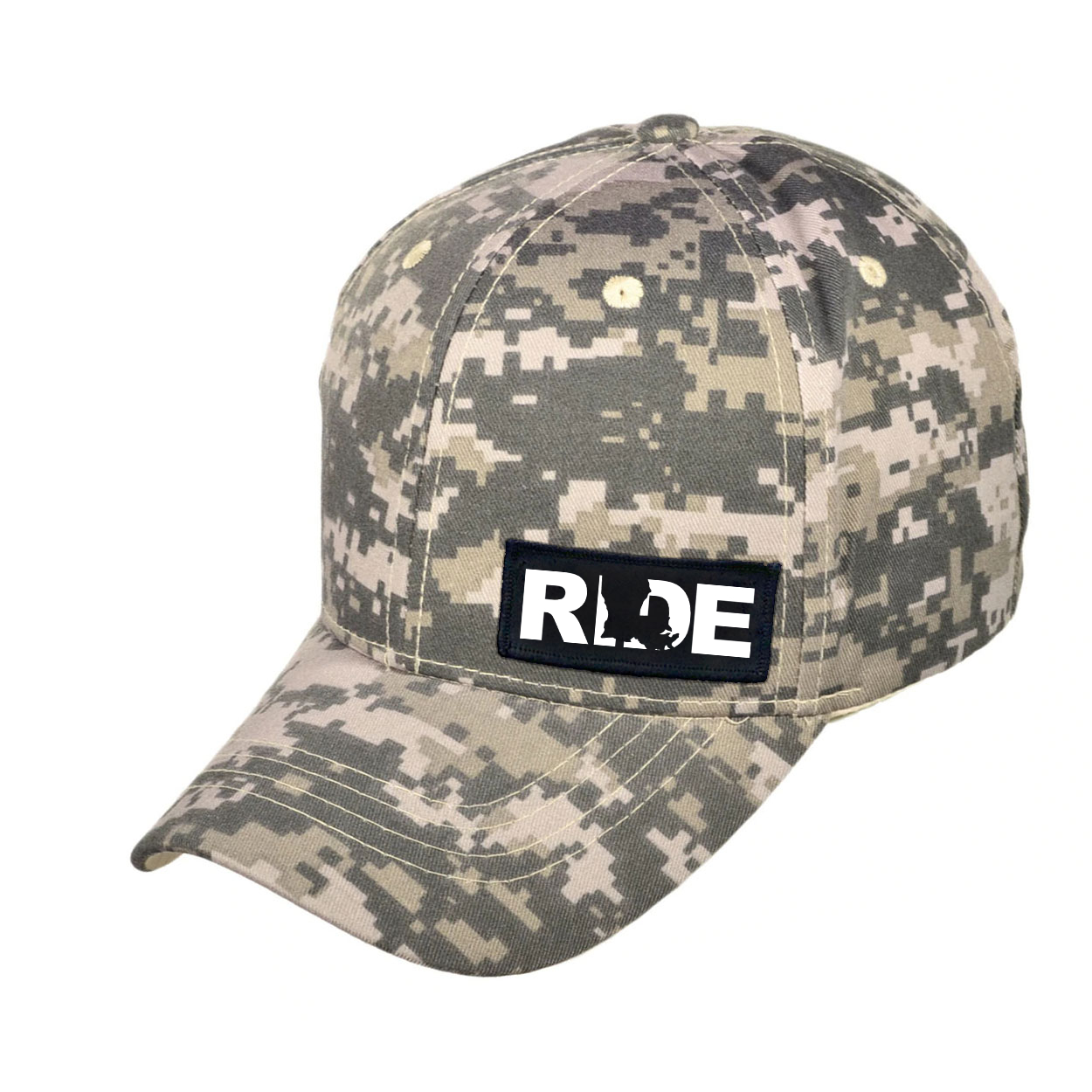 Ride Louisiana Night Out Woven Patch Hat Digital Camo (White Logo)