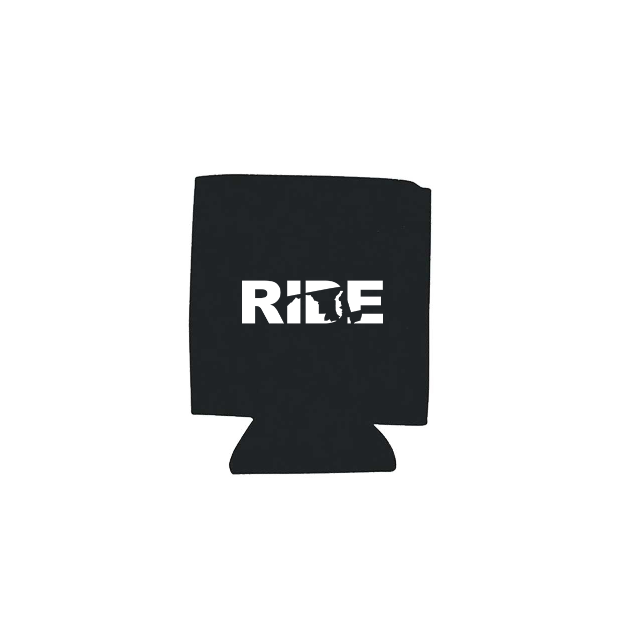 Ride Maryland Koozie Black (White Logo)