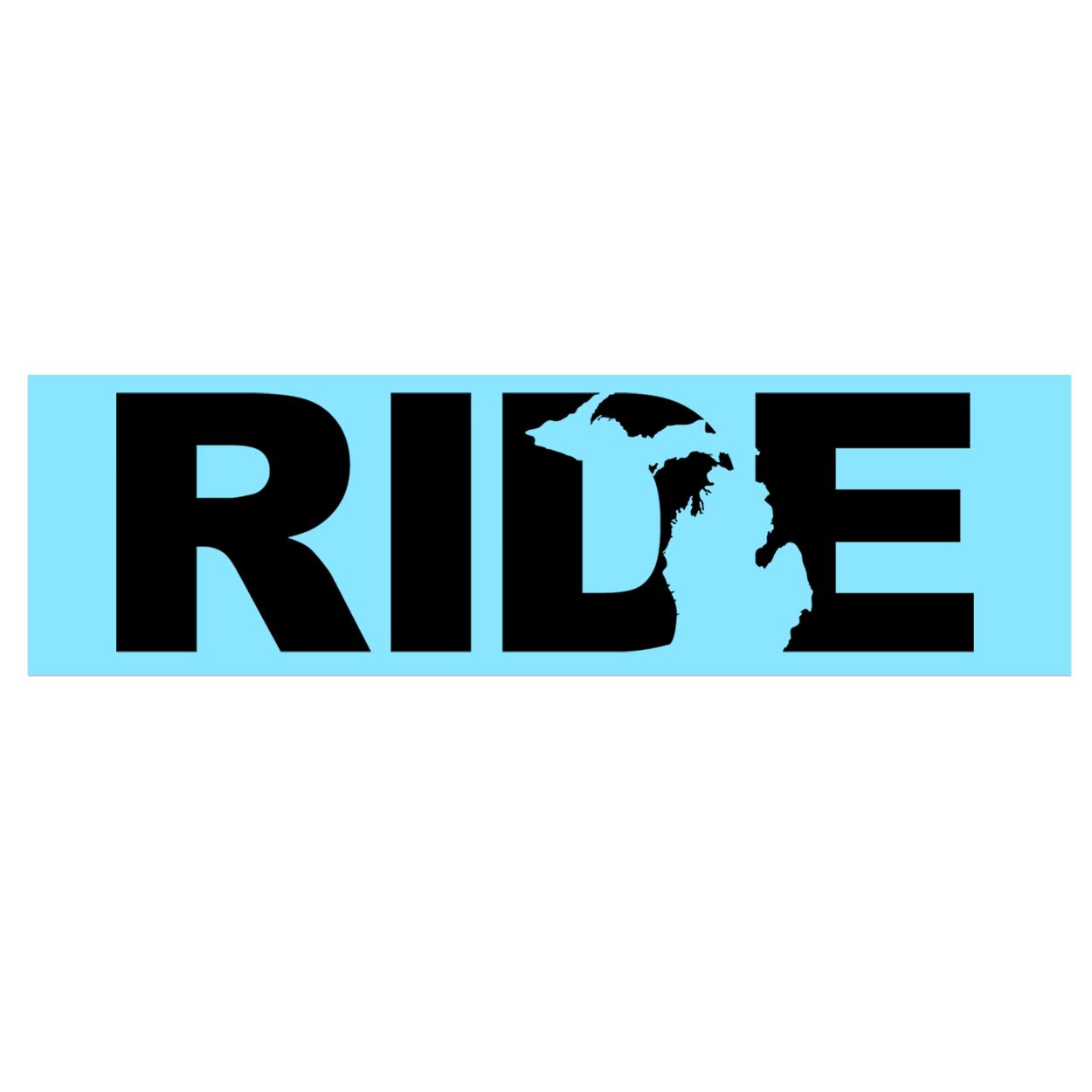Ride Michigan Classic Decal (Black Logo)
