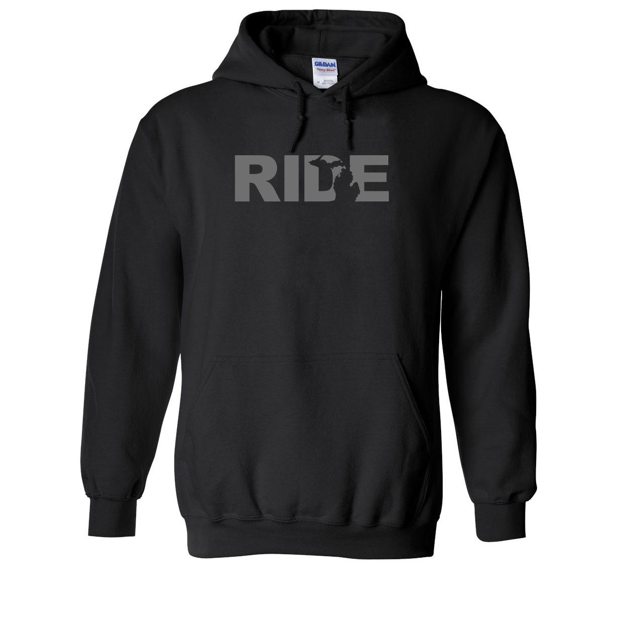 Ride Michigan Classic Sweatshirt Black (Gray Logo)
