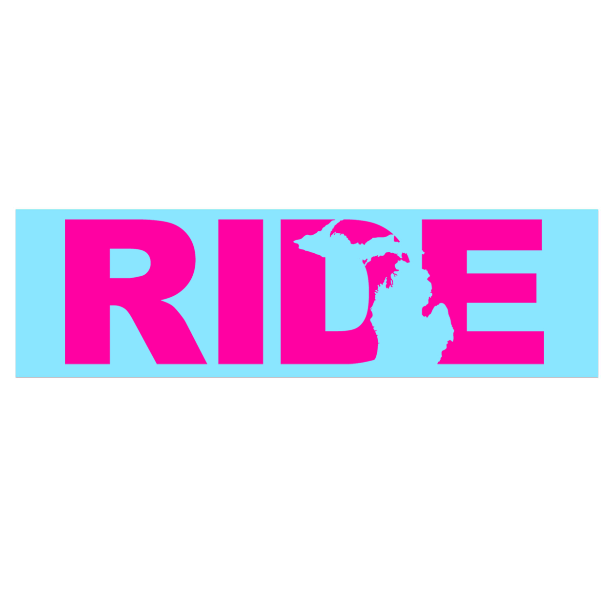 Ride Michigan Classic Decal (Pink Logo)