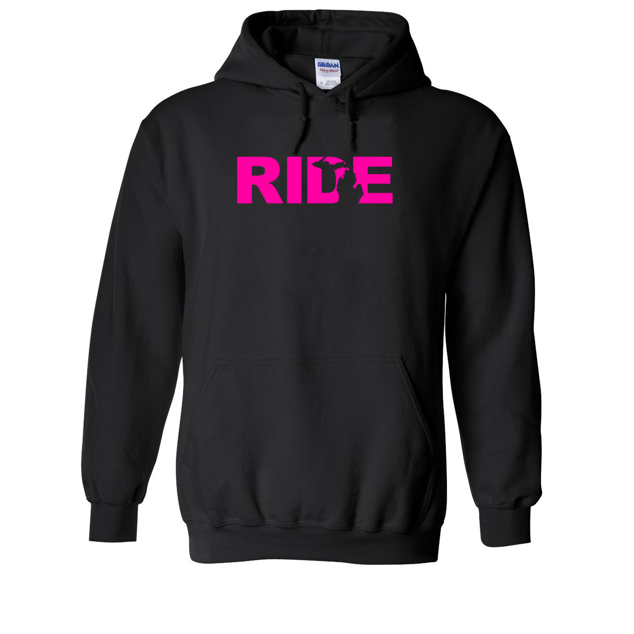 Ride Michigan Classic Sweatshirt Black (Pink Logo)