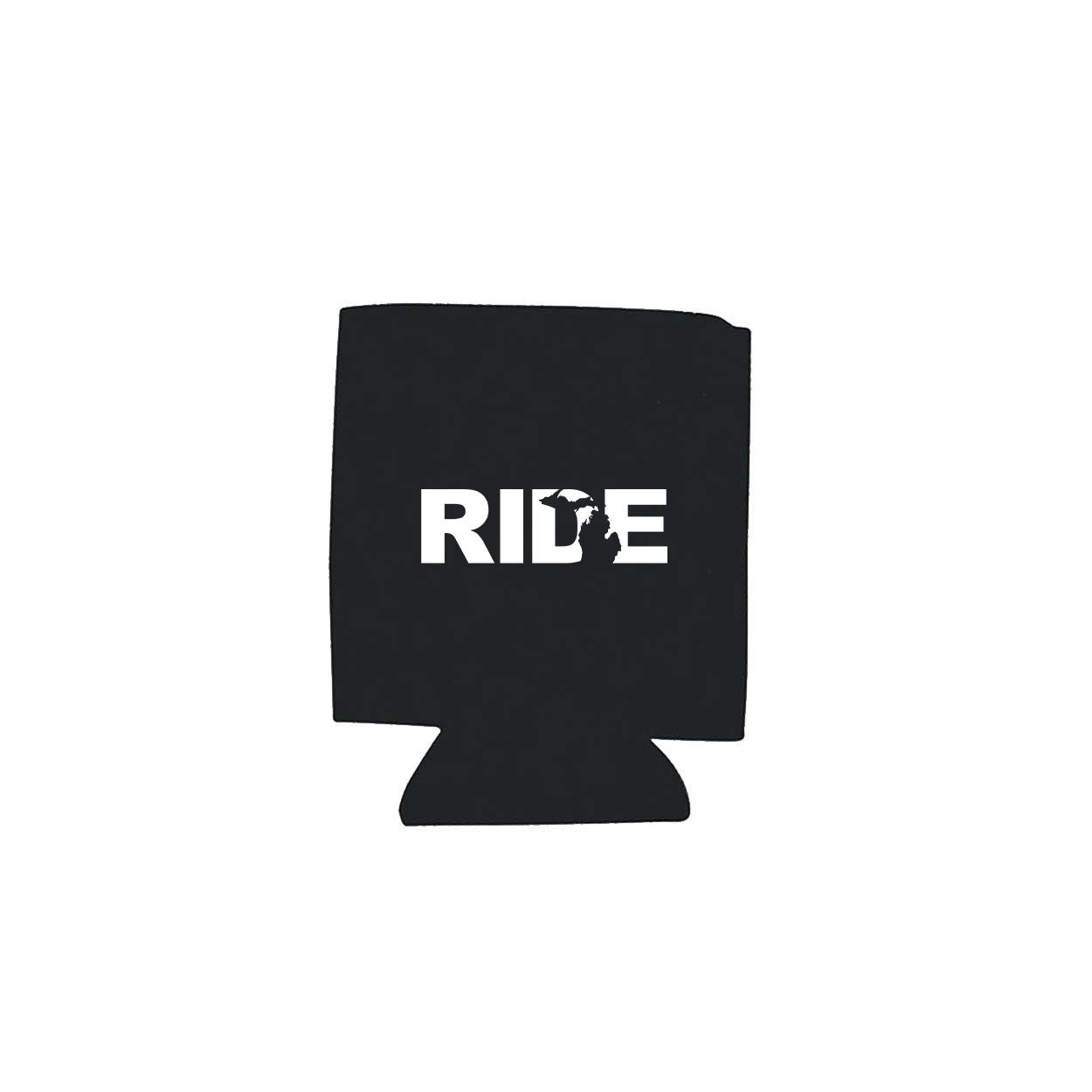 Ride Michigan Koozie Black (White Logo)