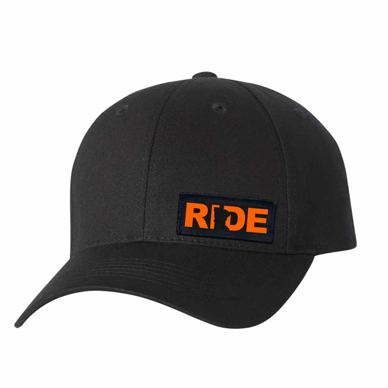 Ride Minnesota Night Out Youth Woven Patch Hat Black (Orange Logo)