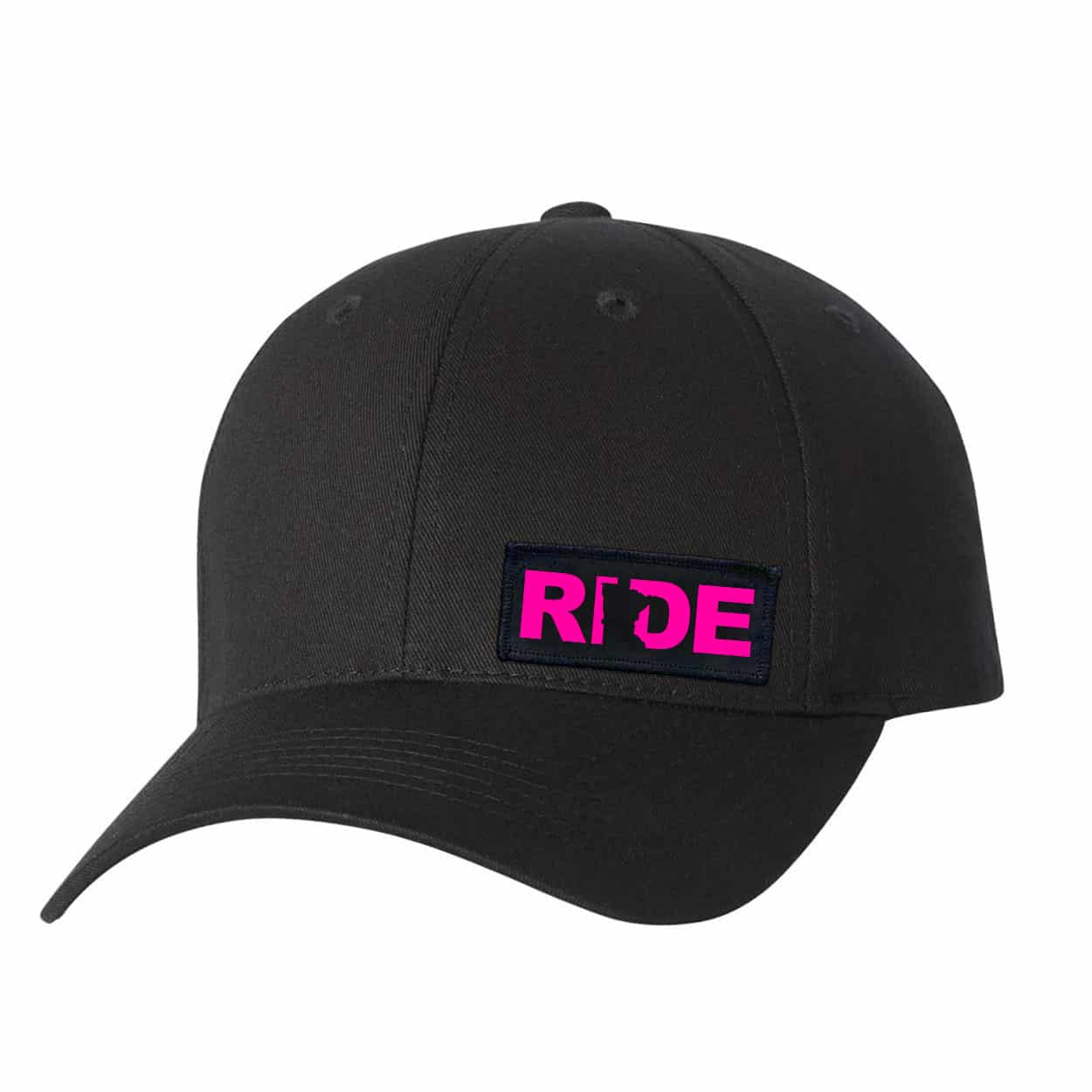 Ride Minnesota Night Out Youth Woven Patch Hat Black (Pink Logo)