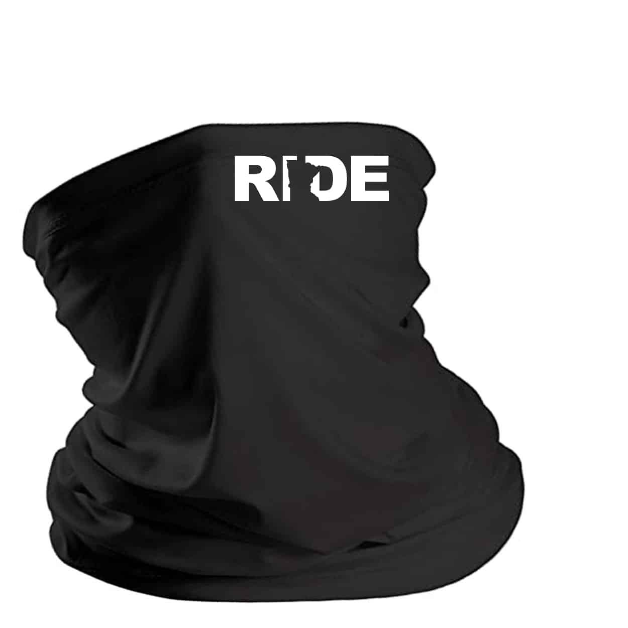 Ride Minnesota Night Out Lightweight Neck Gaiter Face Mask Black (White Logo)