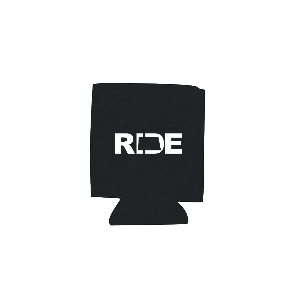 Ride North Dakota Koozie Black (White Logo)