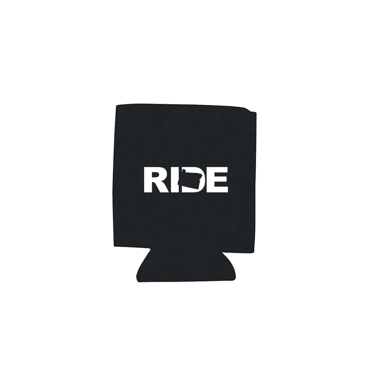 Ride Oregon Koozie Black (White Logo)