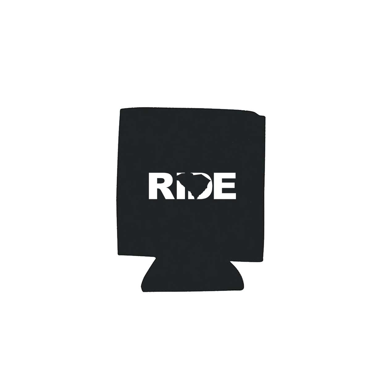 Ride South Carolina Koozie Black (White Logo)