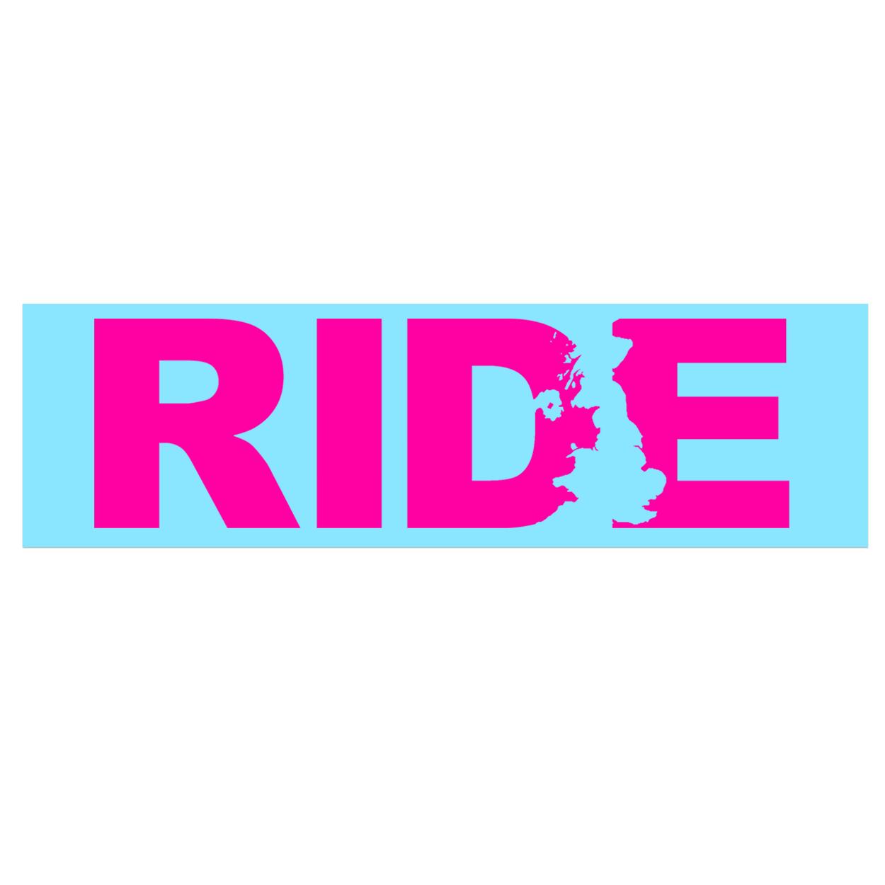 Ride United Kingdom Classic Decal (Pink Logo)