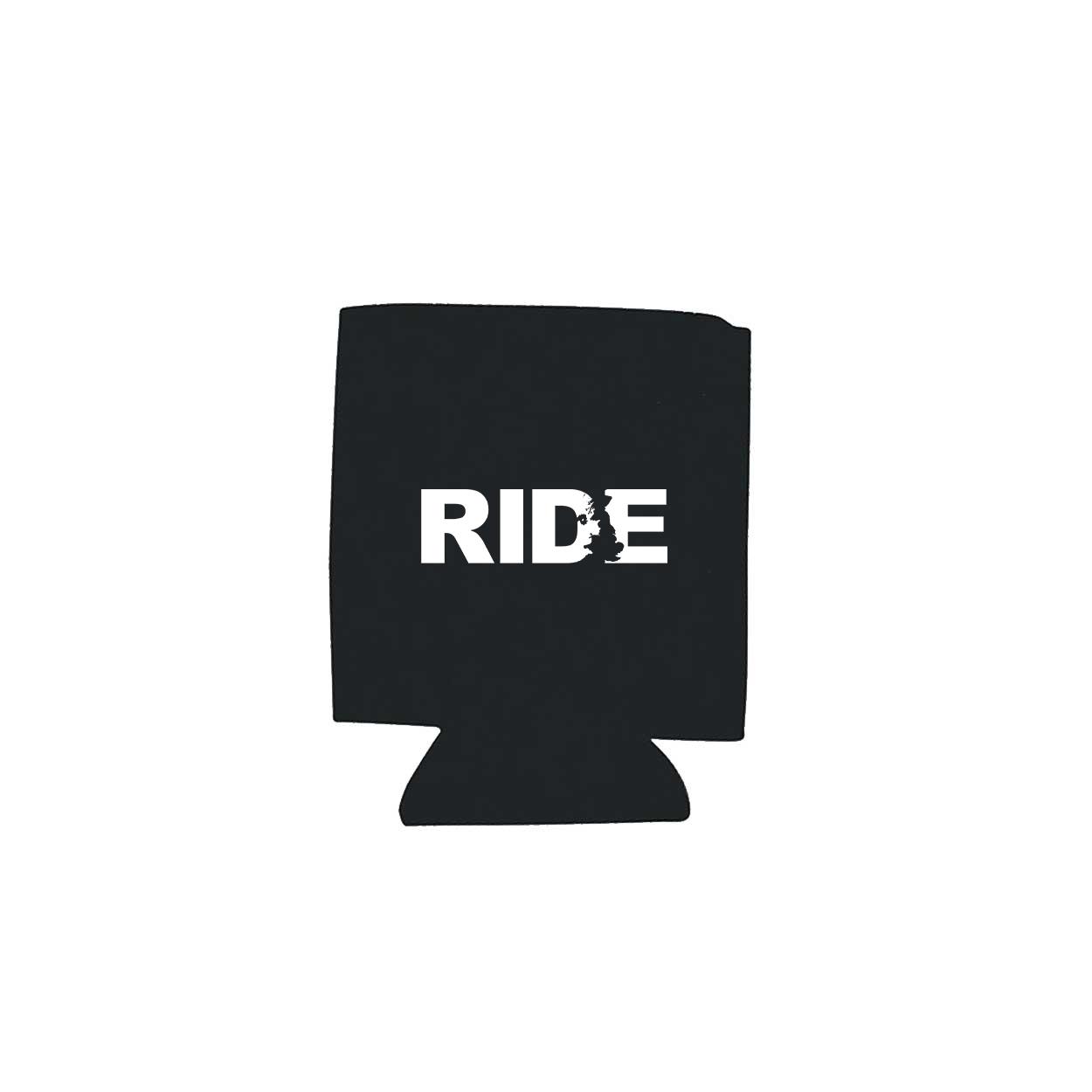 Ride United Kingdom Koozie Black (White Logo)